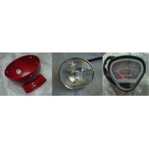 Tablero, Optica Y Cubre Opticas Mondial Dax 110cc Roja - 2r