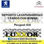 Deposito Limpiaparabrisas Y Faros Con Bomba Peugeot 408 Orig