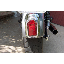 Faro Trasero Moto Custom Tombstone Rail Harley Tuning Choper