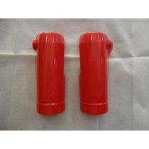 Cubre Horquillas Guardabarro Yamaha Crypton Rojo Pastico