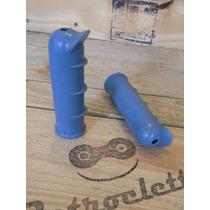 Puños Manoplas Azul Bicicleta Inglesa No Baquelita