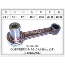Kit Biela Guerrero Bajaj M80 Classic 2t Muñon Jaulas Creuso