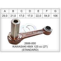 Kit Biela Kawasaki Kmx 125 2t Jaulas Muñon Creuso Std Envios