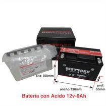 Bateria Ytx6.5 Marca Jrs P/ Zanella Sexy Cg S2 - Sti Motos