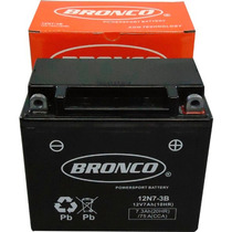 Bateria 12n7 3b A Gel Marca Bronco En Gaona Motos!!!