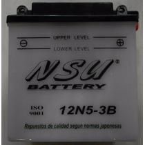 Bateria Nsu 12n5-3b Gilera Zanella Yamaha Honda Motos440!!!