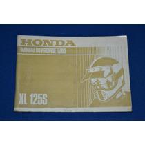 Honda Xl125s Manual De Usuario Original