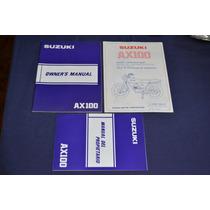 Suzuki Ax100 Manual Del Propietario Original