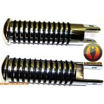 Pedalines Motos Custom Universales Tunning Choperas Cromado
