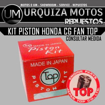 Kit Piston Top Honda Cg Fan Japon Um! Consulte Medida