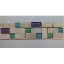 Guarda Mosaico Combinada Vidrio Travertino Colores Eleccion!