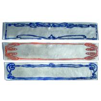 Guardas Cocina O Baño 20 X 6 Art Nouveau Vidrio Vitrofusión