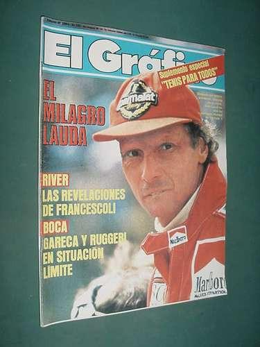 Revista Grafico 3394 Lamina Deportivo Español Campeon Lauda