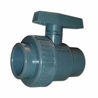 Válvula Valflux Soldable Con Unión Doble Pvc Plastico 40mm