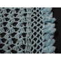 Mantilla Bebe Tejida Al Crochet Lana Celeste Artesanal