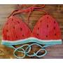 Conjunto Bikini, Top Crop, Bombachas Colales A Crochet