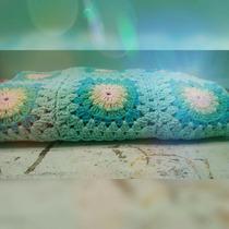 Manta Crochet Cuna Funcional Artesanal Única!!!