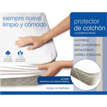 Protector De Colchón Dos Plazas 1.40 X 1.90 Directo Fabrica