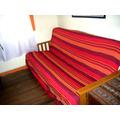 Cubrecama Hindu Rustico Rayado - 2 1/2 Plazas - Cubre Futon