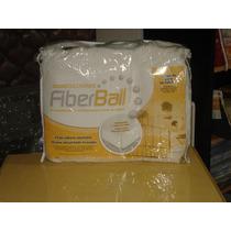 Novedad Cubre Colchon Fiberball Ajustable Y Acolchado 80x190