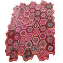 Manta Crochet Hexagonos