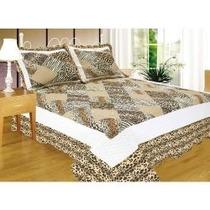 * Colcha Quilts Animal Print Con Funda Campomayo 1 Y 1/2 Pl