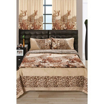 Acolchados Fg 1 1/2 Plazas Estampado Animal Print Leopardo