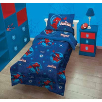Acolchado Infantil Spiderman 1 Y 1/2 Plaza Piñata