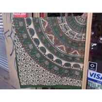 Cubrecama Manta Cobertor Hindú Cubre Sillón 2,14 X 2,24 M.