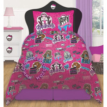 Sabanas Monster High 1 1/2 Plaza Disney Originales