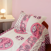 Cubrecama Quilt Cover 1 Plaza Y 1/2 Reversible Modelo Love