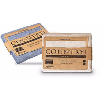 Cubrecama -rustico Country 1 1/2 Plazas Color Natural