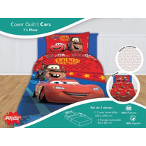 Cover Infantil Disney Piñata Quilt Cars Minnie Mickey Oferta
