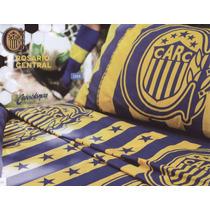 Juego De Sabanas Casablanca Futbol Rosario Central 1 1/2 P