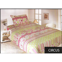 Cubrecama Quilt Cover Estampado Twin 1,70 X 2,40 + 1 Funda