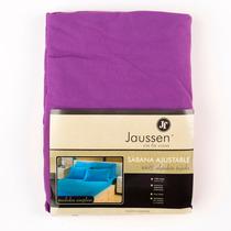 Sábana Ajustable Jaussen Jersey 100% Algodón (violeta, 1 ½)