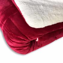 Edredon Super Soft De Flannel Con Corderito King Size Bor