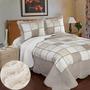 Cobertor Quilt Con Corderito 2 ½ Con 2 Fundas De Almohada (r