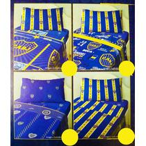 Acolchado Boca Jrs. 1 1/2 Plazas + Regalo + Envío Gratis