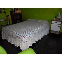 Sobrecama 2 Plazas Al Crochet En Hilo Rustico