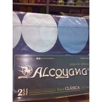 Juego De Sabanas Alcoyana 2 Plazas Y Media Linea Clasica