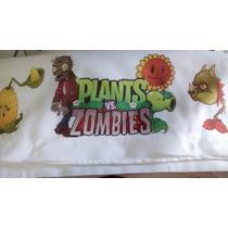 Sabanas De 1 Plaza Y Media De Plants Vs Zombies + Almohadon