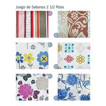 Combo X 3 Juegos De Sabanas 2 1/2 Plazas Danubio Economicas