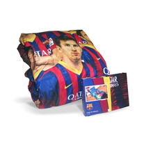 Combo Acolchado + Sábanas Messi Barcelona 1 1/2 Plaza