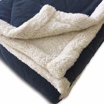 Acolchado Super Soft Con Corderito 2 1/2 Plazas Azul
