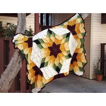 Manta De Lana Tejida Al Crochet