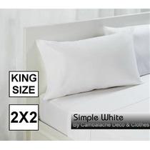 Sabanas Blancas Hoteleras King Size 2x2 - 200 Hilos Sw