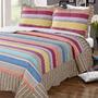 Cubrecama Quilt Estampado Con Corderito 2 1/2 Plazas Bs As