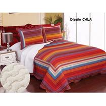 Edredon Quilt Reversible C/corderito 230x250 Queen Acolchado