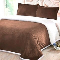 Frazada Microfibra Soft Con Corderito Kavanagh 2 1/2 Plazas